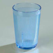 Carlisle 401054 - Crystalon® Stack-All® SAN Tumbler 9-1/2 Oz., Blue, Ribbed Texture - Pkg Qty 48