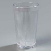 Carlisle 401207 - Crystalon® Stack-All® SAN Tumbler 12 Oz., Clear, Ribbed Texture - Pkg Qty 48