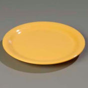"Carlisle 4300422 - Durus® Narrow Rim Dinner Plate 9-1/16"" x 29/32"", Honey Yellow - Pkg Qty 24"