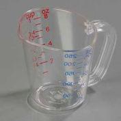 Carlisle 4314107 - Measuring 1 Cup, Clear, Polycarbonate - Pkg Qty 12