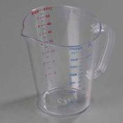 Carlisle 4314407 - Polycarbonate Measure Cup, 1/2 Gallon- Clear - Pkg Qty 6