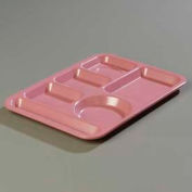Carlisle 4398193 - Left-Hand Heavy Weight 6-Compartment Tray, Rose Granite - Pkg Qty 12