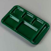 Carlisle 4398208 - Right-Hand Space Saver Compartment Tray, Forest Green - Pkg Qty 12