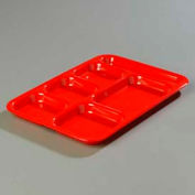 Carlisle 4398805 - Right-Hand Heavy Weight Compartment Tray, Red - Pkg Qty 12