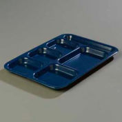 Carlisle 4398835 - Right-Hand Heavy Weight Compartment Tray, Cafe Blue - Pkg Qty 12