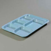 Carlisle 4398859 - Right-Hand Heavy Weight Compartment Tray, Slate Blue - Pkg Qty 12