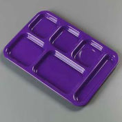 Carlisle 4398887 - Right-Hand Heavy Weight Compartment Tray, Purple - Pkg Qty 12