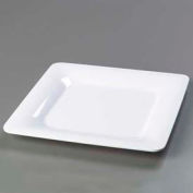 "Carlisle 4440002 - Designer Displayware™ Wide Rim Square Plate 12"", White - Pkg Qty 4"