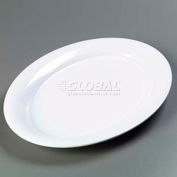 "Carlisle 4441202 - Designer Displayware™ Wide Rim Oval Platter, 21"" x 15"", White"
