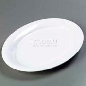 "Carlisle 4441202 - Designer Displayware™ Wide Rim Oval Platter, 21"" x 15"", White"
