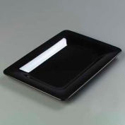 "Carlisle 4441403 - Designer Displayware™ Wide Rim Rectangle Platter 14"" x 10"", Black - Pkg Qty 4"