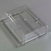 "Carlisle 44414C07 - Designer Displayware Cover For 14"" x 10"" Wide Rim Rectangle Platter, Clear - Pkg Qty 12"