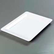 "Carlisle 4441602 - Designer Displayware™ Wide Rim Rectangle Platter 17"" x 13"", White - Pkg Qty 4"