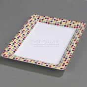 "Carlisle 44417918 - Designer Displayware Palette Displayware Rectangle 17"" x 23"", Mediterranean Tile"