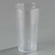 Carlisle 521207 - Stackable™ SAN Tumbler 12 Oz., Clear, Pebbled - Pkg Qty 72