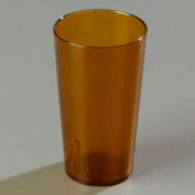 Carlisle 521213 - Stackable™ SAN Tumbler 12 Oz., Amber, Pebbled - Pkg Qty 72