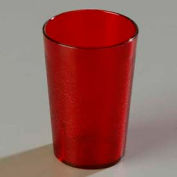 Carlisle 552610 - Stackable™ SAN Tumbler 8 Oz., Ruby, Pebbled - Pkg Qty 72