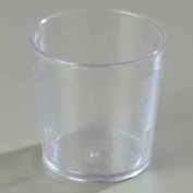 Carlisle 5529-207 - Stackable™ Old Fashion SAN Tumbler 9 Oz., Clear, 24 Ea. Pebbled - Pkg Qty 24