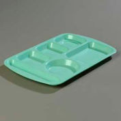 Carlisle 586500 - Left-Hand Handled Economy Melamine 6-Compartment Tray, Variegated - Pkg Qty 12