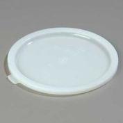 "Carlisle 060302 - Bains Marie Food Storage Container Lid 8-7/16"" x 3/8"", White - Pkg Qty 12"