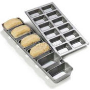 Carlisle 606902 - Steeluminum® 6 Loaf Mini Loaf Pan, 17-1/2 Oz.