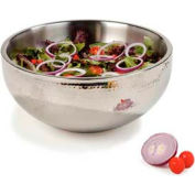 """Carlisle 609204 - Dual Angle Bowl W/Hammered Finish 9-1/2 Qt., 14"""", Stainless Steel - Pkg Qty 2"""