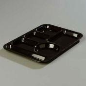 Carlisle 61403 - Left-Hand 6-Compartment Tray, Black - Pkg Qty 24