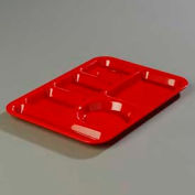 Carlisle 61405 - Left-Hand 6-Compartment Tray, Abs Rd - Pkg Qty 24