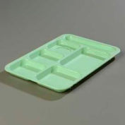Carlisle 614R09 - Right-Hand Compartment Tray, Green - Pkg Qty 24