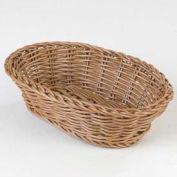 "Carlisle 655025 - Woven Baskets Oval Basket Small 9"", Caramel - Pkg Qty 6"