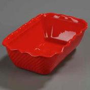 """Carlisle 696305 - Tulip Deli™ 5 Lb. Crock 10-3/8"""" x 6-3/4"""", Red - Pkg Qty 6"""