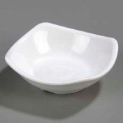 "Carlisle 794002 - Small Square Dish 3-1/2"", White - Pkg Qty 48"