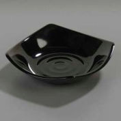 "Carlisle 794203 - Small Square Dish 5-1/4"", Black - Pkg Qty 48"