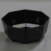 "Carlisle 888803 - Bowl, Octagon, 8 Lb., 9-1/2"", Glossy Acrylic, Black - Pkg Qty 4"