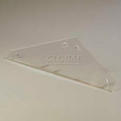 Carlisle 905207 - Double End Panel Encloses Side On Double-Sided Sneeze Guard, Clear