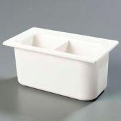 "Carlisle CM110302 - Coldmaster® 6"" Third-Size Divided Food Pan, White"