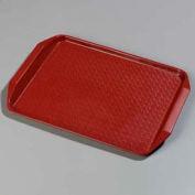 "Carlisle CT121705 - Cafe® Handled Tray 12"" x 17"", Red - Pkg Qty 24"