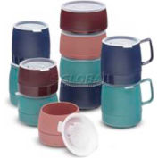 Dinex DX119769 - Classic Stackable Mug, Insulated 8Oz., 48/Cs, Chocolate