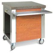 "Dinex DXDCSD - Dinexpress® Cashier Stand W/ Drawer, 30""L x 30""D x 36""H, Stainless Steel"