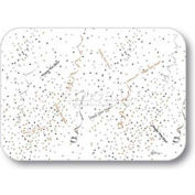 "Dinex DXHS470M001 - Confetti & Streamers Design Traycover W/ Straight Edge, 13-5/8"" x 18-3/4"""