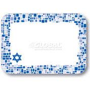 "Dinex DXHS722I001 - Shalom Design Traycover W/Straight Edge Round Corner, 12-1/2"" x 16-1/2"", 100/Pk"