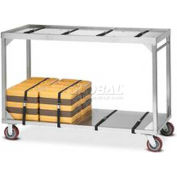 Dinex DXICSTO136 - Stacking Cart For Insulated Tray Systems, Correctional 136 Cap., Stainless Steel