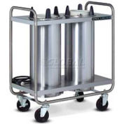 """Dinex DXIDPH2O1012 - Plate Dispensers Open Style-Heated, 2 Silo Fits 10-1/8 Plate, 35-1/2"""" x 17-3/4"""""""