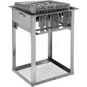 "Dinex DXIDRD2020 - Mobile Rack Dispenser, 20"" x 20"" Rack Size, Stainless Steel"