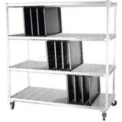 """Dinex DXIDTDR3 - Drying Rack For 14"""" x 18"""" & 15"""" x 20"""" Flat Trays, Approximately 120 Tray Capacity"""