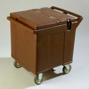 Carlisle IC225001 - Cateraide™ Ice Caddy, 2 Rigid Casters, 2 Swivel Casters, Brown