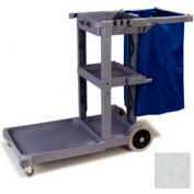 Carlisle® Long Platform Janitorial Cart - Gray JC1945L23