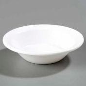 "Carlisle KL80002 - Kingline™ Rimmed Fruit Bowl 5"", White - Pkg Qty 48"