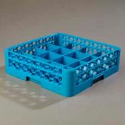 Carlisle RC16-114 - Opticlean™ 16-Compartment Cup Rack W/ 1 Open Extender, Blue - Pkg Qty 4