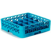 Carlisle RC20-114 - Opticlean™ 20-Compartment Cup Rack W/ 1 Open Extender, Carlisle Blue - Pkg Qty 4